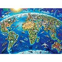 DIY 5D ダイヤモンドペインティングキット 大人 子供用 地球フルドリル ラウンドダイヤモンド 宝石 アートビーズペイント 子供用 ホームウォールデコレーションに最適 (キャンバスサイズ:12x16インチ/ 30x40cm)