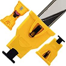 Nola Brands Chainsaw Teeth Sharpener Portable Bar-Mount Electric Chainsaw Chain Sharpening Kit Fast-Sharpening Stone Grinder Tools for Saw Chain Sharpening Tool System Abrasive Tools (Yellow)
