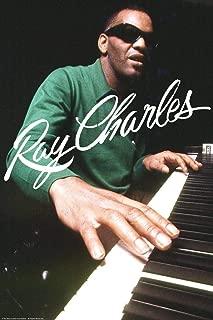 Ray Charles Playing Piano Signature Music Cool Wall Decor Art Print Poster 24x36