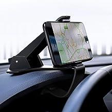يوجرين -حامل هاتف السيارة متوافق مع 4-6.5 بوصة الهاتف الذكي iPhone X/8/7/7P/6s/6P, Galaxy S6/S7/S8 Edge, Google Pixel, LG, Huawei والخ - أسود