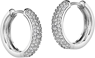 Michooyel CZ أقراط هاغي الماس للرجال هوب أقراط للأولاد الأزياء والمجوهرات خالية من الحساسية