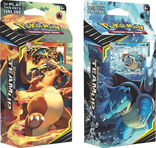 Pokemon Sun & Moon Team Up - Both Theme Decks Charizard & Blastoise...