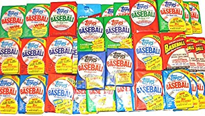 100 Old Vintage Topps Baseball Cards ~ Sealed Wax Packs Lot!
