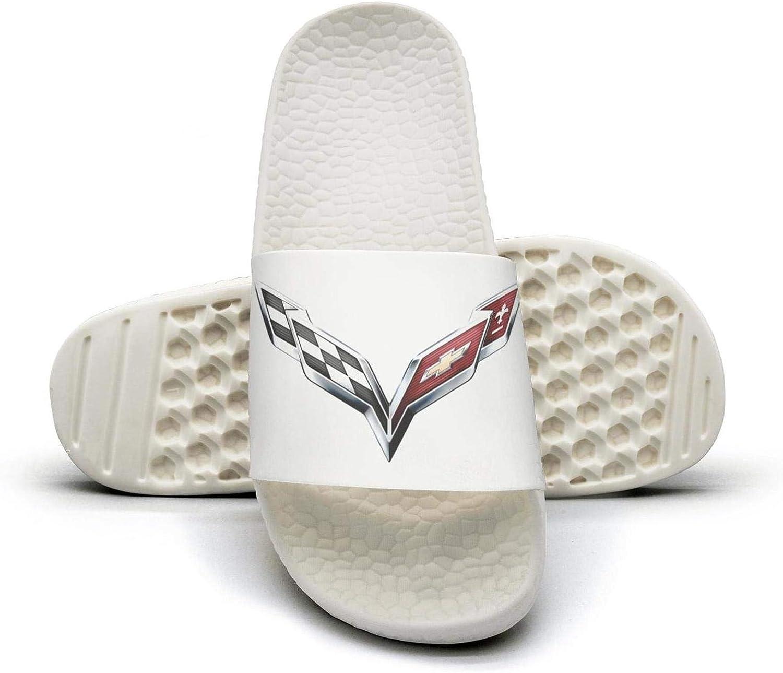 EIGKASL Black White Printed Non-Slip Slippers Slide Flip Flop Sandals Summer Comfortable for Womens