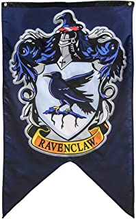Hogwarts School of Witchcraft Banner for Harry Potter Wizardry Flag Poster Wall Decals Magical Wizard School Crest Party Decoration (Ravenclaw)