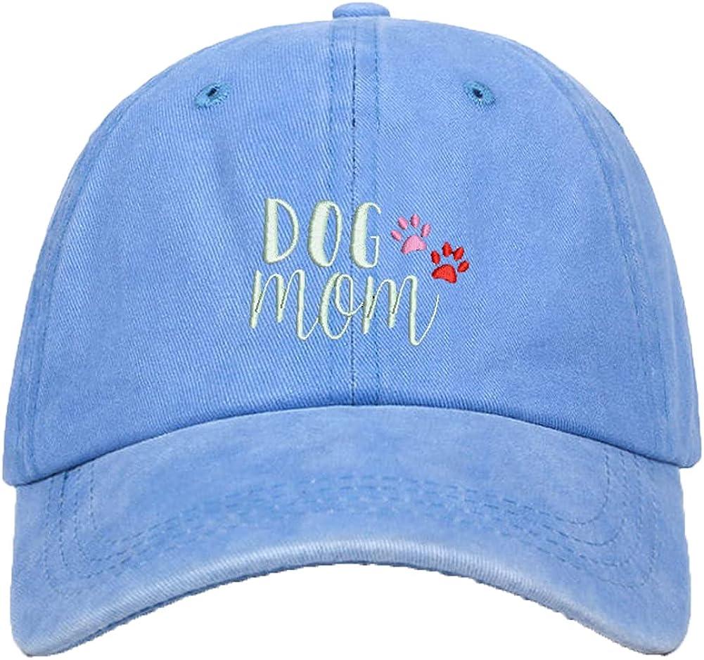 Dog Mom Baseball Cap Vintage Washed Distressed Adjustable Dad Hat for Women