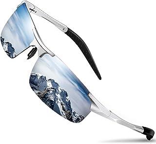 Mens Sunglasses Driving Polarized Sun glasses Sports Mirrored Retro Shades for Cycling Golf Shooting Fishing, UV 400 prote...