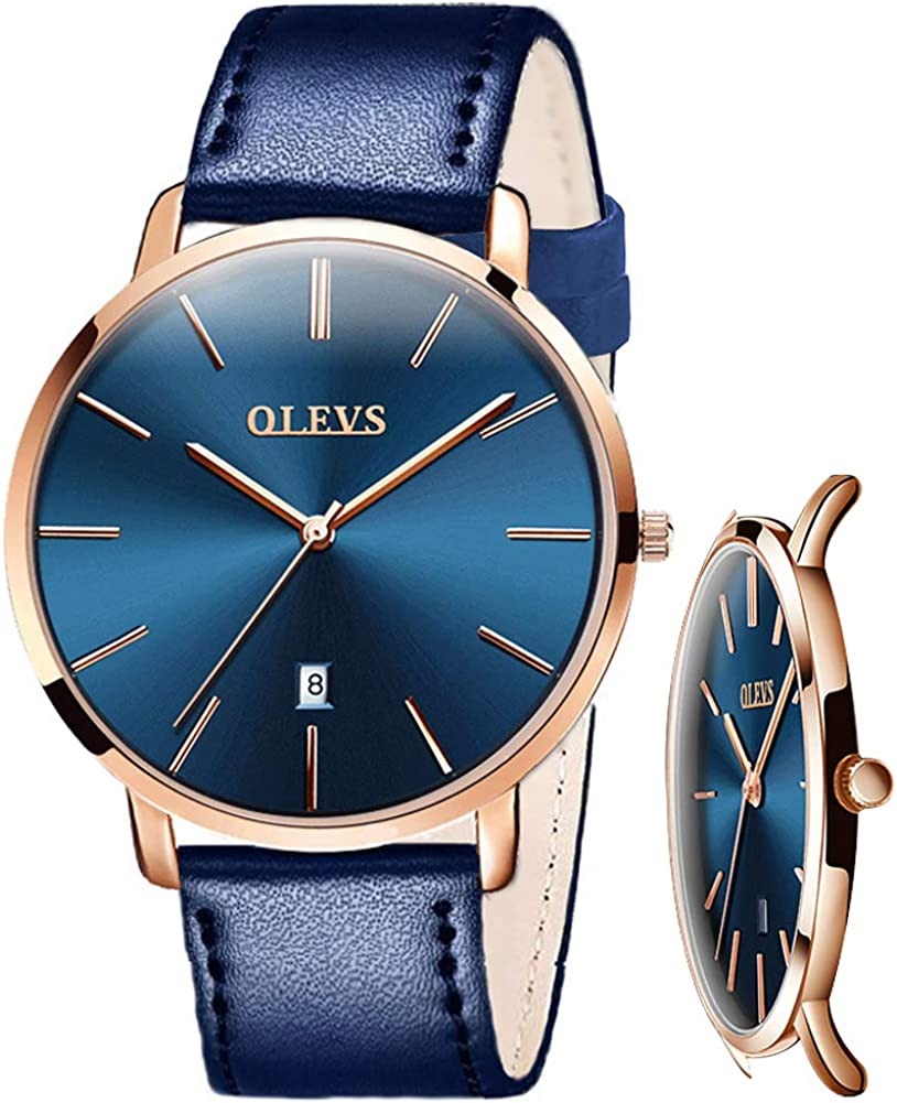 OLEVS Watch for Men-Mens Ultra Thin Watches-Waterproof Minimalist Analog  Quartz Wrist Watch Gifts for Husband : Simple: Clothing, Shoes & Jewelry -  Amazon.com