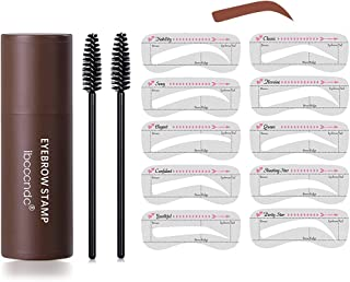 Sponsored Ad - Waterproof Eyebrow Stamp Kit,Makeup Stamp Shaping Kit Eyebrow Definer Hariline Shadow with 10 Reusable Eyeb...