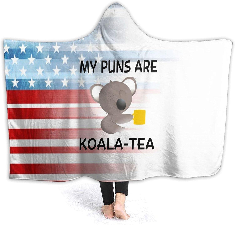 Hooded Blanket Ranking TOP17 Poncho My Puns are Soft Koala Wholesale Fleece Flannel Tea