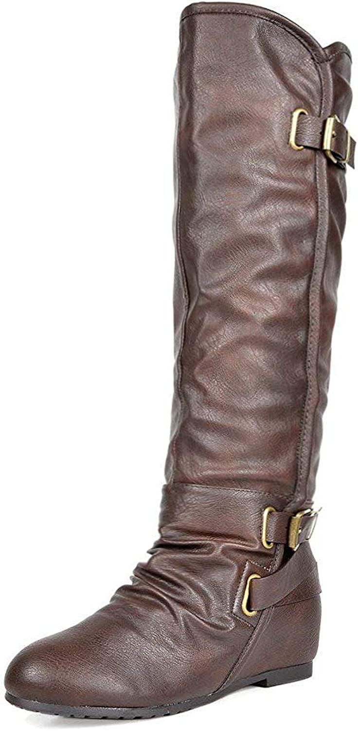 DREAM PAIRS Women's Akris Knee High Boot (Wide Calf Available)