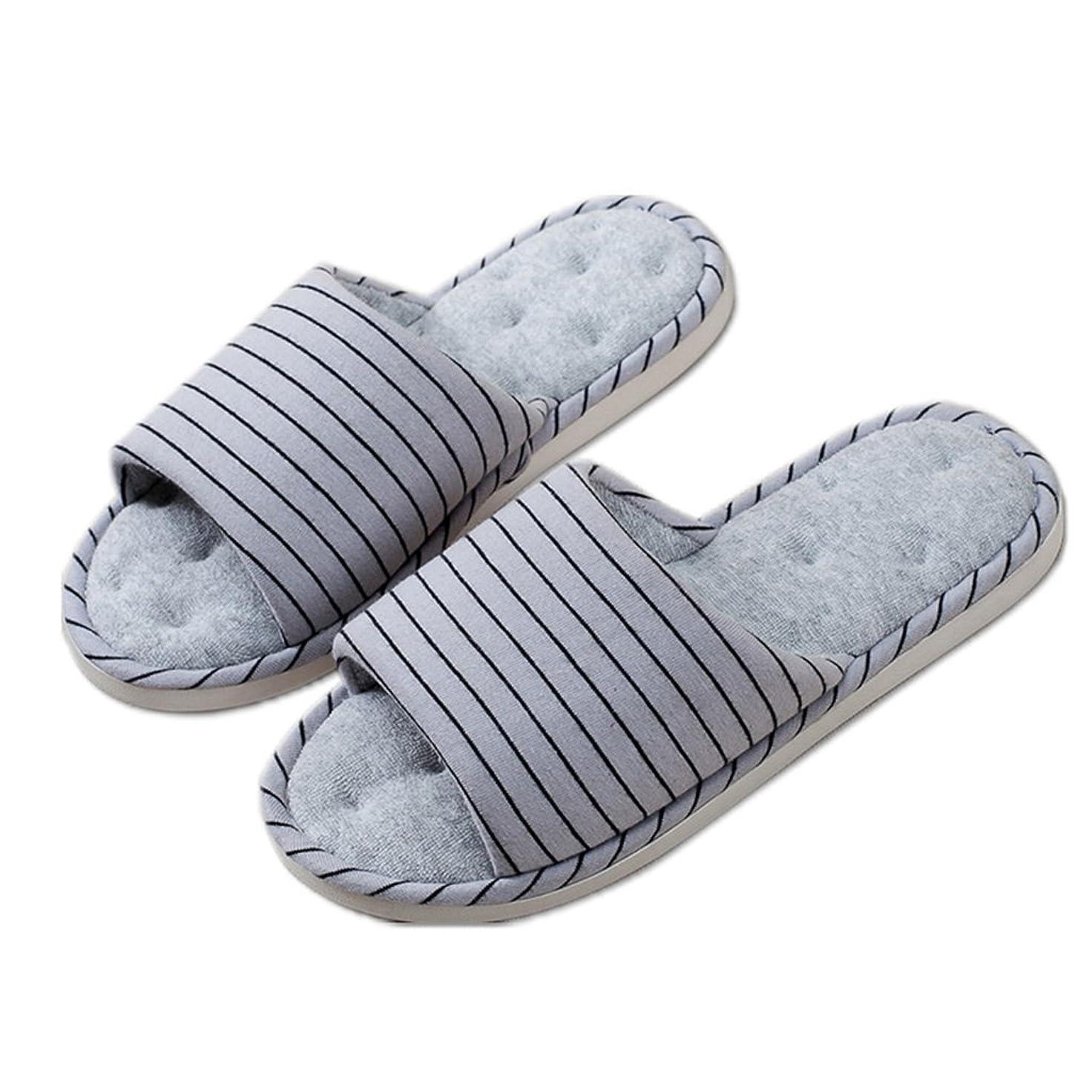 水曜日願望ミシン室内の綿のスリッパ女性の滑り止めソフトで快適なリネン軽量の滑りにくい靴 ( 色 : B , サイズ さいず : EUR:39-40 )