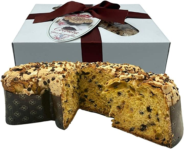 Colomba pasquale gilber alle gocce di cioccolato fondente 1kg, dolce artigianale B08WYV5R32