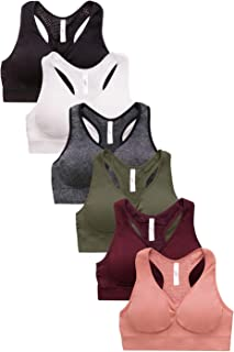 Sofra Women's 6pk Sports Bras