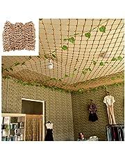 Anti-valnet - Decor Netto Henneptouw Decoratienet Klimnet Plafond Outdoor Feestdecoratie Muurnet, 8 cm gaas