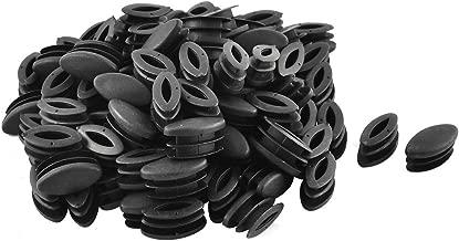 sourcingmap® Casa scuola plastica forma ovale sedia tavolo gamba piedi inserto tubo nero 100 pz