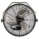 NewAir, WindPro18W, Wall Mounted 18 Inch High-Velocity Industrial Shop Fan with 3 Speed Settings, 3000 CFM,Black