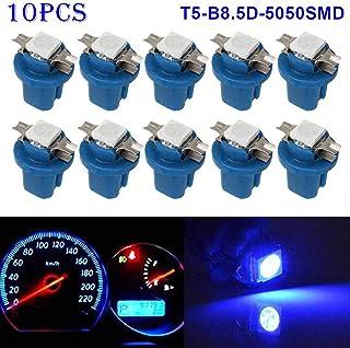 sourcingmap 6 Pz 12VDC T10 LED blu Auto Auto Plancia Cruscotto Luci Lampadine