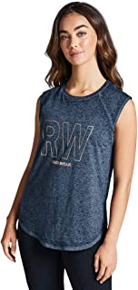 Rockwear Activewear Women's Gravity Raglan Seam Tank Deep Sea 12 from Size 4-18 for Singlets Tops