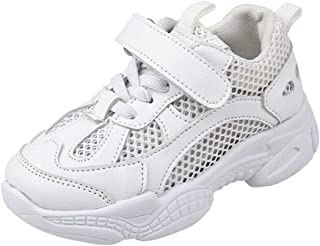 Toddler Kids Sneakers Mesh Breathable Lightweight Soft Soled Running Sports Shoes for Boys and Girls