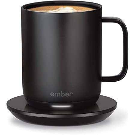 Ember Temperature Control Smart Mug 2, 10 oz, Black, 1.5-hr Battery Life - App Controlled Heated Coffee Mug - Improved Design