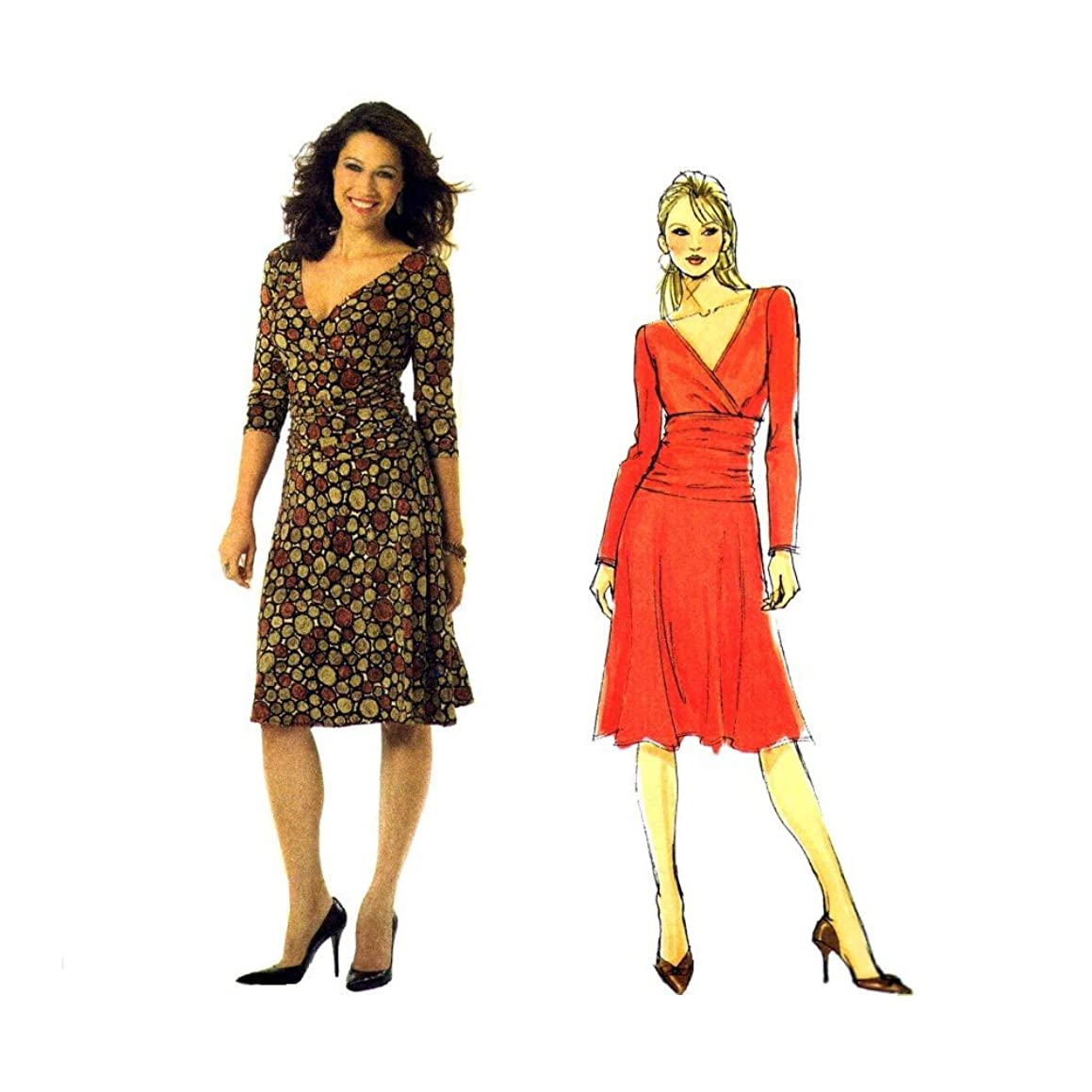 Misses Fitted Shirred Midriff Dress Butterick 4914 Sewing Pattern Size 8 thru 14