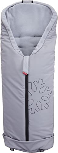 ByBoom® - Nid d'ange softshell thermoactif pour landaus et poussettes, Colour:Gris/Gris