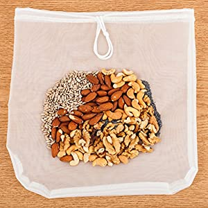 Traditional Kitchen Nut Milk Bag - Strainer & Cheesecloth Food Grade - Almond Milk, Yogurt and Juice Maker - Cold Brew… |