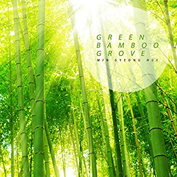 Blue bamboo field