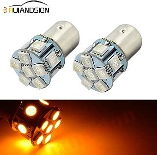 Ruiandsion 2pcs 6V 1156 BA15S 5050 12SMD Yellow/Amber LED Light Bulbs for Reverse Lights Turn Signal Tail Lights,Non-polarity