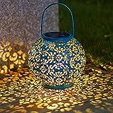 VIY Lámpara Solar Mosaico Luce, Impermeable Luces de Noche Romántica Lámpara de Mesapara de Decoración iluminación para Yarda Jardín Partido Dormitorio