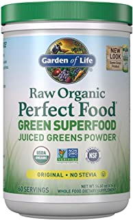 Garden of Life Raw Organic Perfect Food Green Superfood Juiced Greens Powder Original Stevi Free, Non-GMO, Gluten Free, Di...