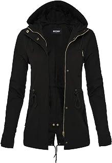 FASHION BOOMY Womens Zip Up Safari Military Anorak Jacket...