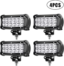 7Inch LED Light Bar TURBO SII LED Work Light Spot LED Lights Off Road Driving Lights Led Pods Fit Jeep Trucks Atv Off Road Lights Boat Lighting Led Backup Light(4 Pack)