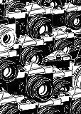 tiandushangdian Pintura Animal Abstracta León Reloj Cocodrilo Cámara En Blanco Y Negro Arte Sala De Estar Arte Póster Lienzo Pintura Sin Marco G1868 (50X70Cm)