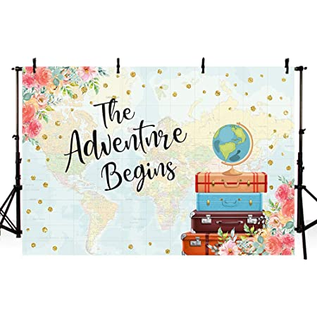Adventure 8x10 FT Backdrop Photographers,Backdrop with Geometric Aztec Motifs and Hand Writing Old Fashioned Style Background for Baby Shower Bridal Wedding Studio Photography Pictures Multicolor