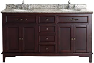 Amazon com: 60 Inch - Vanity Sink Tops / Bathroom Sinks