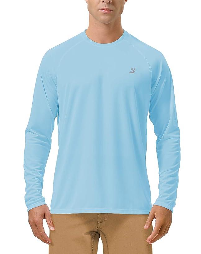 Roadbox Men's Sun Protection UPF 50+ UV Outdoor Long Sleeve Dri-fit T-Shirt Rashguard for Running, Fishing, Hiking