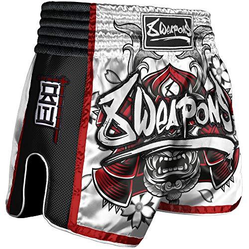 8 Weapons Shorts, Super Mesh, Samurai, rot (XL)