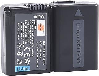 DSTE 2x NP-FW50 Li-ion Batería para Sony Alpha 7 (a7) Alpha 7R (a7R) Alpha 7S (a7S) Alpha a3000 Alpha a5000 Alpha a6000 Cyber-shot DSC-RX10 NEX-3 NEX-3N NEX-5 NEX-5N NEX-5R NEX-5T NEX-6 NEX-7 NEX-C3 NEX-F3 SLT-A33 SLT-A35 SLT-A37 SLT-A55V ...