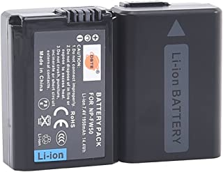 DSTE 2X NP-FW50 Replacement Li-ion Battery for Sony Alpha 7 7R 7R II 7S a7R a7S a7R II a5000 a5100 a6000 a6300 NEX-7 SLT-A37 DSC-RX10 DSC-RX10 II III 7SM2 ILCE-7R 7S QX1 5100 6000 Digital Camera