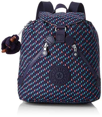 Kipling Bustling Mochila escolar, 32 cm, 13 litros, Varios colores (Blue Dash C)