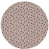 Alfombra redonda de microfibra, antideslizante, lavable, de 59,9 cm, diseño de remolachas, flores, hojas, madre naturaleza, suave, resistente, para yoga, sala de estar, dormitorio, piso, alfombra