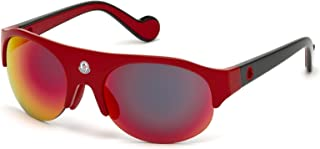 Sunglasses Moncler ML 0050 Quattromila 68C red/other / smoke mirror