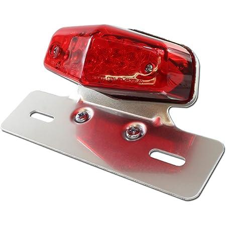 汎用 ルーカス LEDテールランプ レッドレンズ クロームブラケット