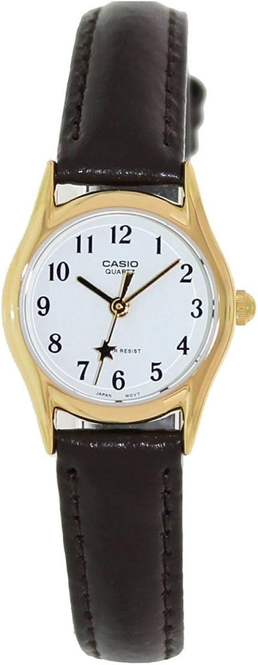 Amazon Com Casio Women S Leather Watch Ltp109aq7b4 Casio Clothing Shoes Jewelry
