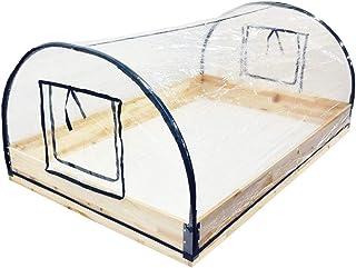 Wellz ビニール温室 ガーデンハウス ビニールハウス 120×80×50cm 家庭菜園 ベランダ ワイド温室...
