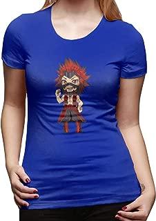 UXUEYING Chibi Kirishima Eijiro My Hero Academia Boku No Hero T-Shirt Blouses Women Short Sleeve Tops
