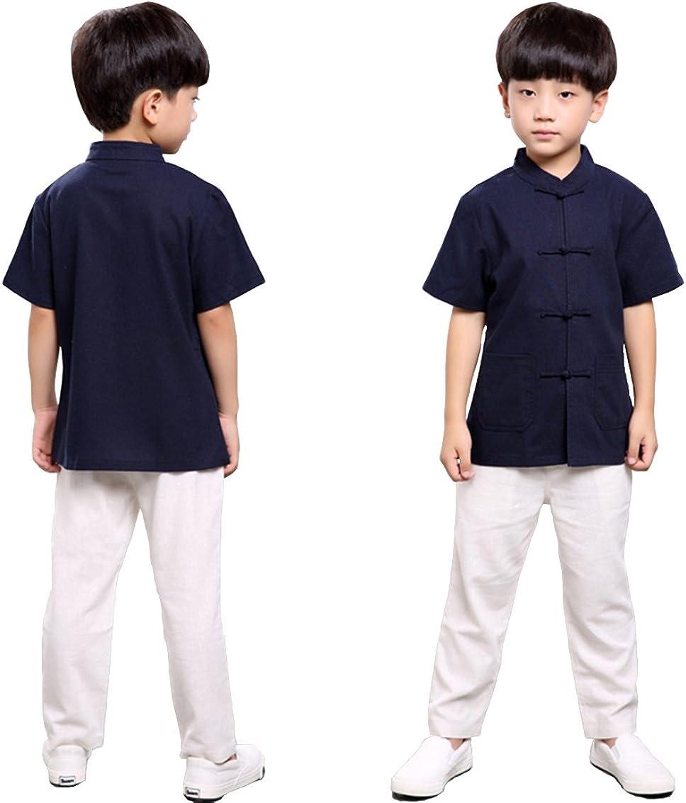 100% Handmade BoysKung Fu Tai Chi Martial Arts Costume KidsShirt #101