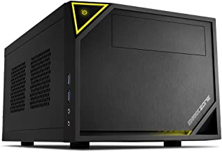 Sharkoon Shark Zone C10 - Caja de Ordenador, Pc Gaming, Mini-Itx, Negro, Amarillo